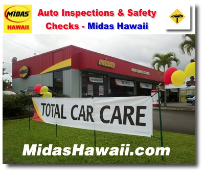 Midas Brake Coupons >> Midas Hawaii Auto Repair - Brakes, Oil Change, Tires, Lube, Maintenance, Air Conditioning ...